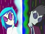 Vinyl Scratch vs Neon Lights by MixDaPonies