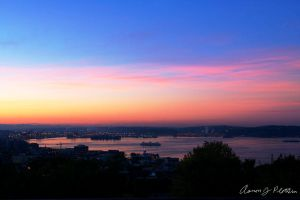 Puget Sound With Ferries by photoboy1002001