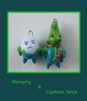 Humpty and Captain Nerp by DarkRaven17