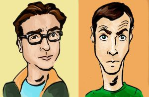 Leonard and Sheldon by lcannizzaro