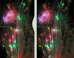 Fireworks Stereo 3D Cross-View by zour