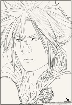 Cloud Strife Line Work by LaikenDesignz