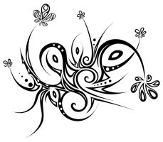 Tribal flowers by Dessins-Fantastiques