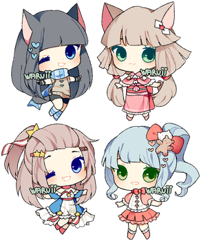 (CLOSED) collab point adopts 5 by waruuii