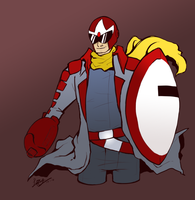 :.Protoman in my gallery wut.: by LordOfPastries