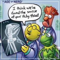 The Age of Nerd - Kermit's X-Ray by RockyDavies