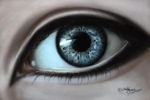 Realistic eye painting by JenovaTheGoddes