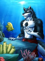 Fishing Underwater by SymbolHero