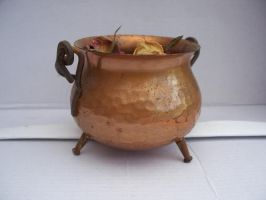 copper cauldron by AzurylipfesStock