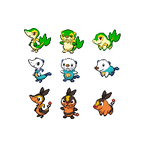 Gen 5 Starter Fusions by threepersonsecret