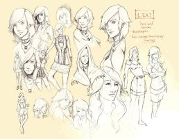 Lexi - Real World Design Sketches by CatCouch