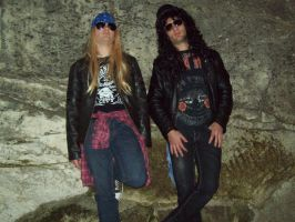 Axl and Slash Malta Carnival09 by deanfenechanimations