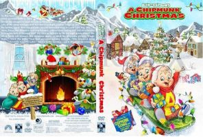 Chipmunk Christmas DVD Front and Back Cover 1 by gleefulchibi
