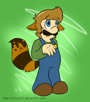 Raccoon Luigi :) by 12Luigi12