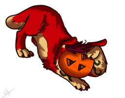 Happy Halloween by Squishy-Pirate-Mutt