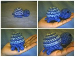 Crochet Little Striped Turtle by katrivsor