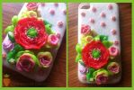 Dress your phone in something nice... Polymer Clay by DarkPartOfCarrot