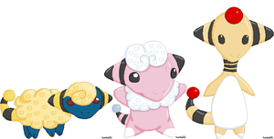 Mareep Family by tenko72