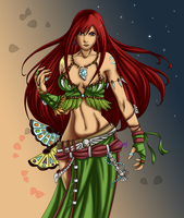 Erza - Shaman Armor by NightElfPriestess
