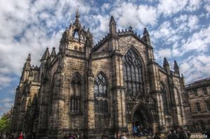 St Giles Cathederal Edinburgh Scotland by Estruda