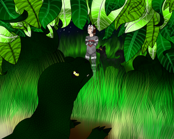 Through The Leaves...[REDONE - Commission] by LastbutnotAlise