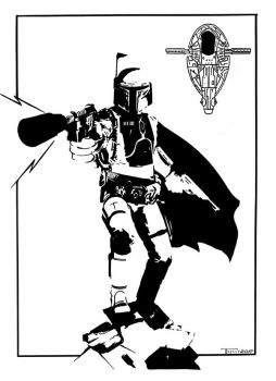 Boba Fett Magnum force by Tom Kelly by TomKellyART