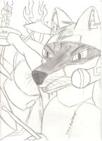 Animal At The Drums by cynblkfox