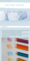 colored pencils- Hair Color Tutorial by Rhomi