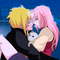 Narusaku in -the rain by Animelovex by AnimeLoveX