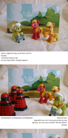 Apple Family vs Daleks by sparklepeep