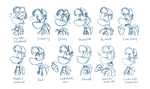 Rayman RPG Expression Drawings by EarthGwee