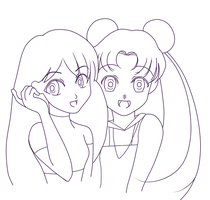Usagi and Rei by vinegarwater