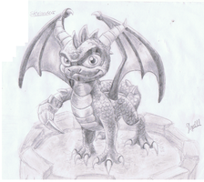 Spyro Skylanders Sketch by ConkerTSquirrel