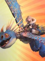 Astrid and Stormfly by trollinlikeabitchtit