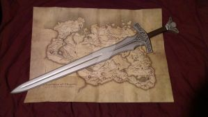 TES Skyrim: Steel Sword Prop Replica Build by TheAnti-Lily