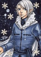 aceo - winter king by demon-rae