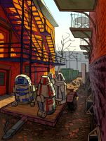 Droids in the Alley by spacejack