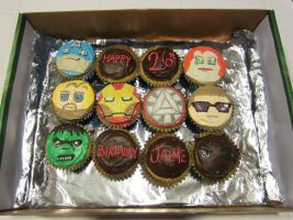Avenger Cupcakes Assemble by iliketodoodle