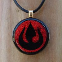Custom Avatar FireNation Glass by FusedElegance