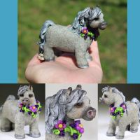 Freckles the Polymer Clay Pony by CreaturesofClay