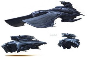 Alien ship concepts by BenWootten