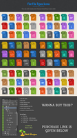 90 Flat File Types Icons by Chill-Designs