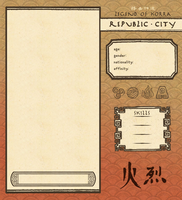 Republic City Firebender App Template by Psyoren