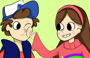 Mabel and Dipper Pines by PangoPango1