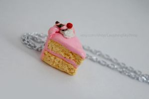 Yellow Cake Pink Icing Necklace by Laughing-Sky