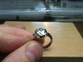 Tube in Tube setting ring by The-Silver-Forge