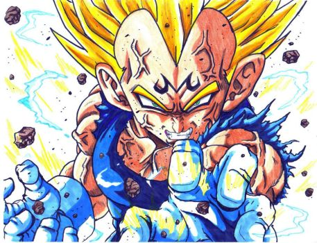 majin vegeta by trunks24