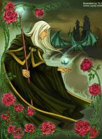 Raistlin and the rose by uuyly