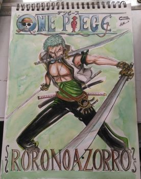 One piece- Roronoa Zorrow by CornandCucumber