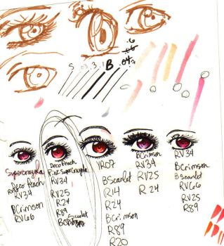Copic Marker Eye Studies by foreverXoXme